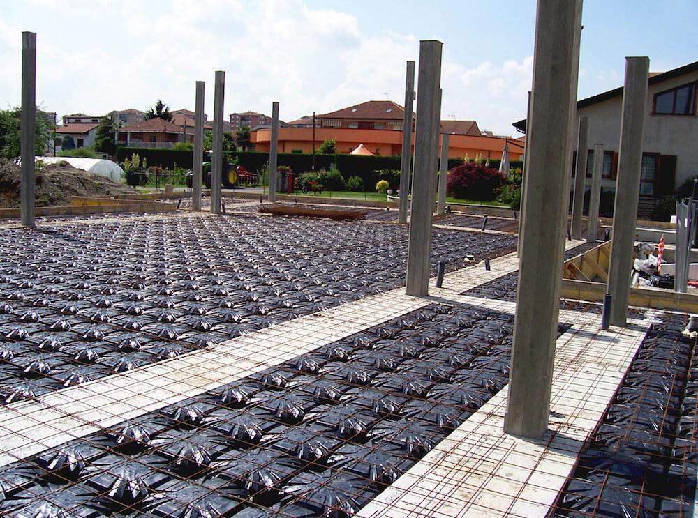 Cantiere edile residenza con piscina
