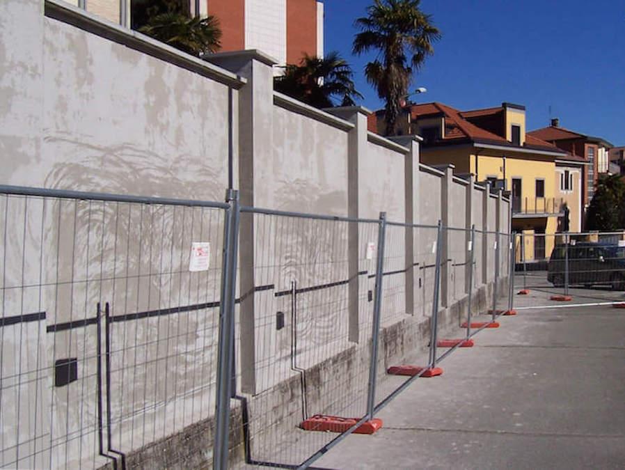 Progetto consolidamento muraglione Caserma Villy Pasquali