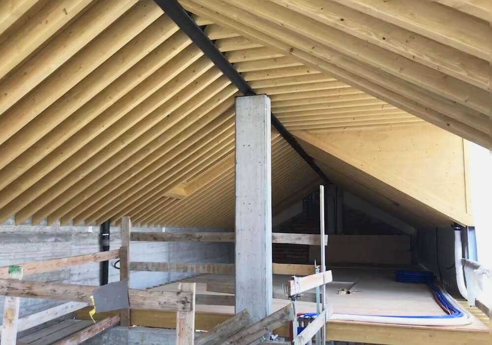 Progetto Via Parini travatura tetto