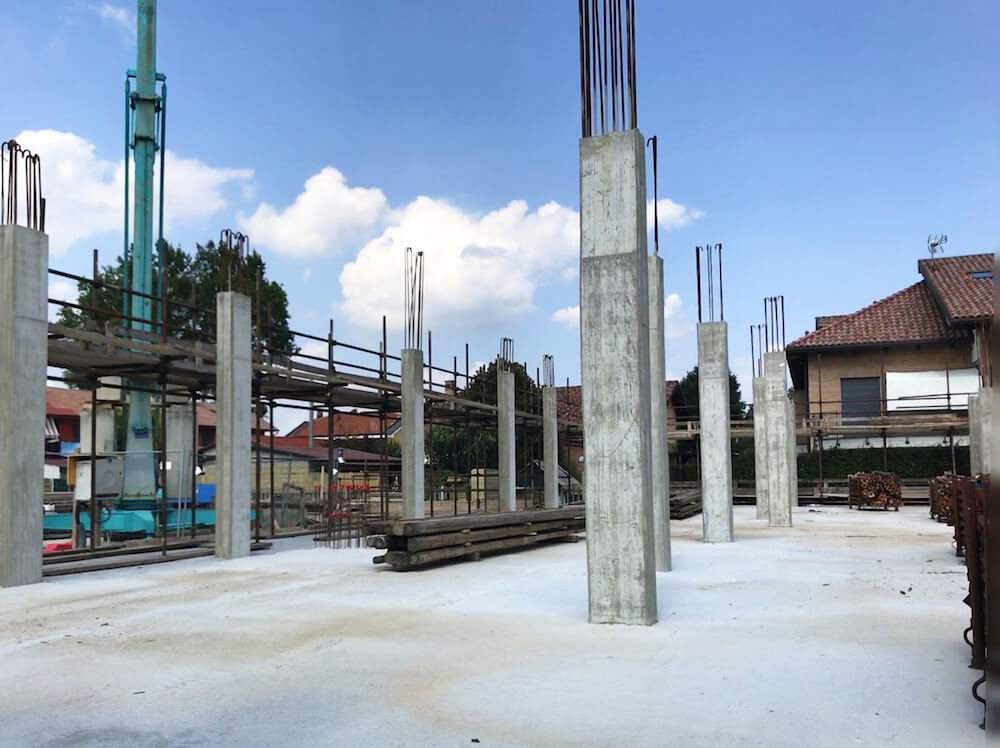 Progetto via Rubattino pilastri cemento armato